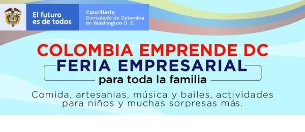 Consulado en Washington invita a la Feria Colombia Emprende D.C. organizada para el sábado 28 de agosto de 2021
