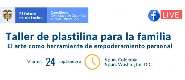 El viernes 24 de septiembre se realizará el Taller de Plastilina para la familia: El arte como empoderamiento