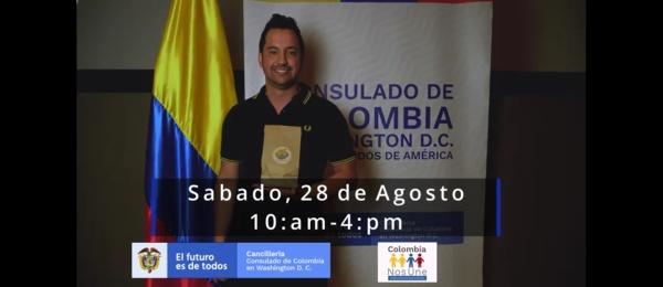 El Consulado General de Colombia en Washington DC invita a la Feria Empresarial Colombia Emprende DC, el sábado 28 de agosto de 2021