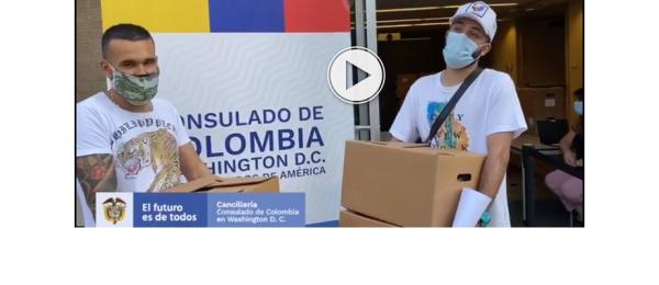 El Consulado General de Colombia en Washington DC, realizó la tercera entrega de alimentos a nuestros compatriotas del área de Washington